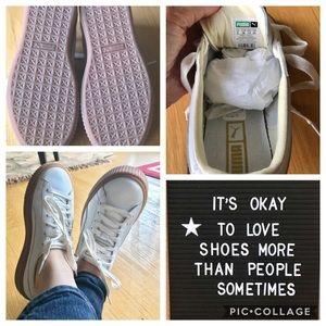 Puma Platform Basket Shoes 7.5